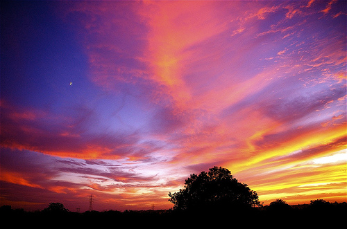 Half-Moon and Sunset (from ms4jah on flickr)
